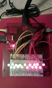 Raspbery Pi driving all 17 GPIO pins