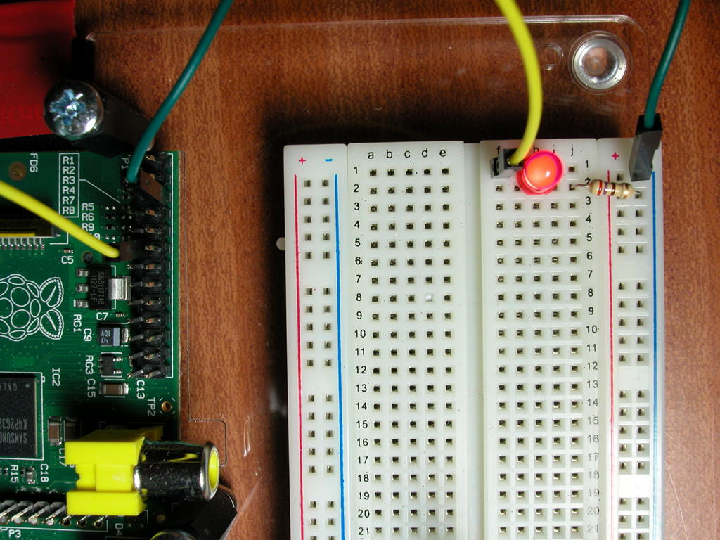 1 A Single Led Gordons Projects Electrical Wiring Controlled By Gpio