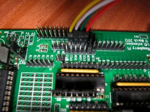 The Pi's GPIO side of the programming connections