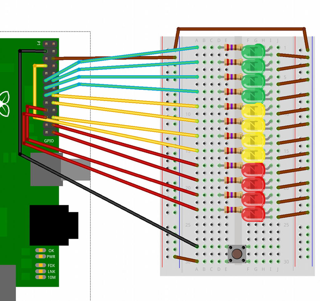 Ladder Game Gordons Projects Wiringpi Python Functions Breadboard Layout