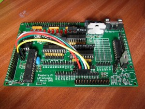 Overview of the Gertboard setup for programming