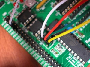 Connecting to the ATmega ISP connector
