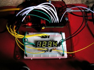 Raspberry Pi with 7-segment LED display