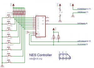 NES Controller Schematic