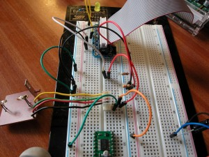 Using the Adafruit Cobler to test the wheel sensor