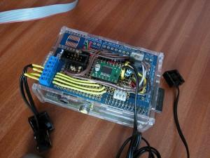 "Raspberry Pi plus ""PiTrak"" Adafruit Protoboard"