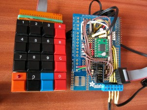 Keypad next to the Protoboard