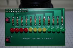 Assembled ladder PCB